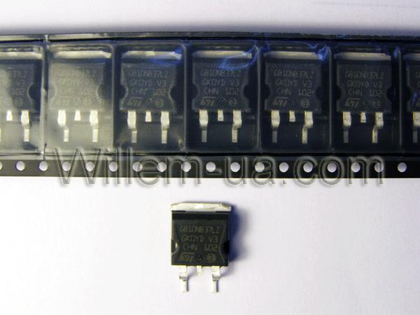 Транзистор STGB10NB37LZ купить дешево.