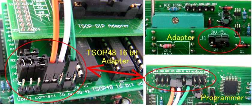 Описание адаптеров и работы с ними программатора GQ-2X, GQ